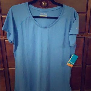 NWT Columbia Omni Wick Blue Shirt. Size L